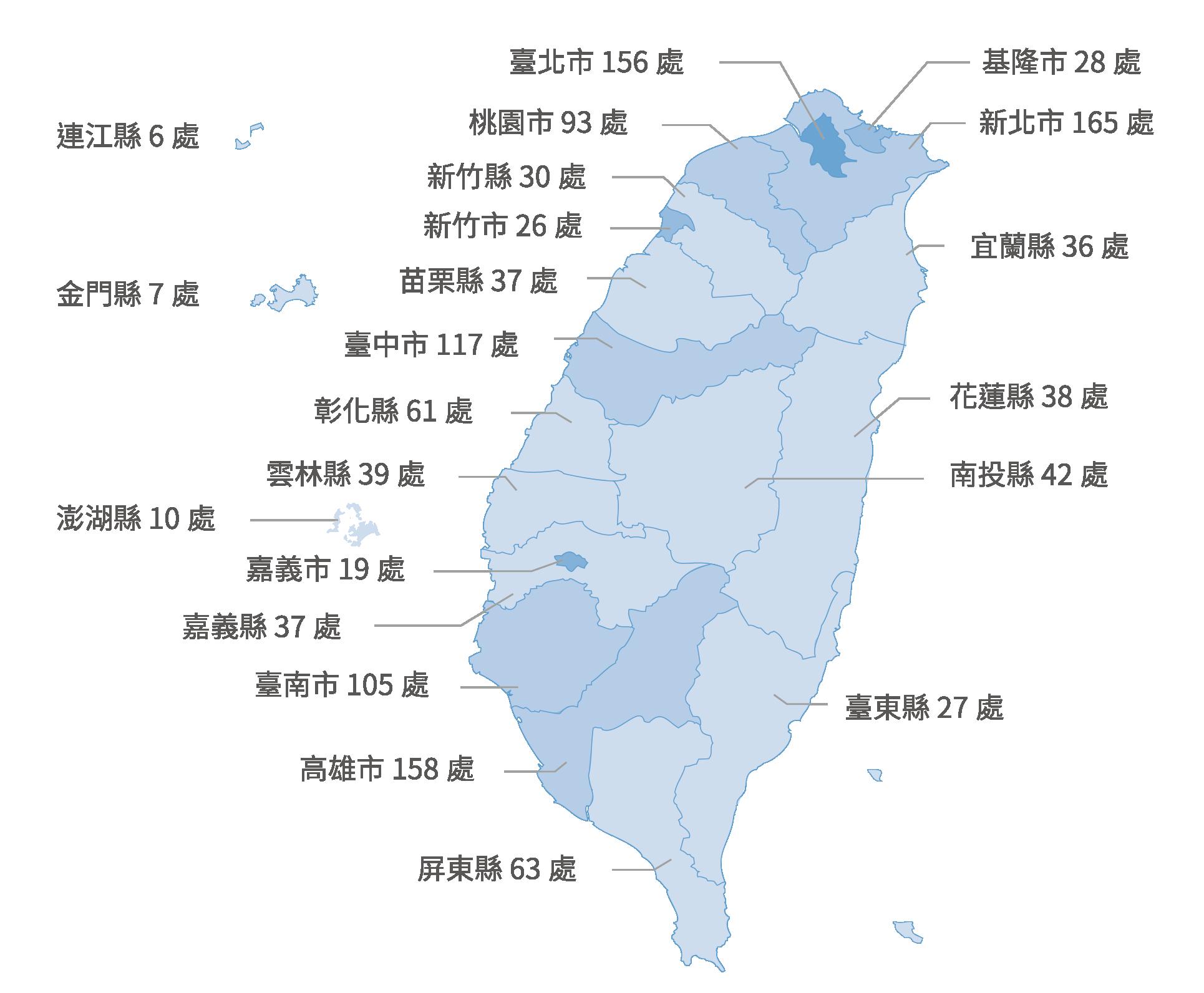 營業據點分布圖