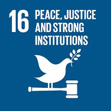 目標16. 促進和平且包容的社會,以落實永續發展;提供司法管道給所有人;在所有的階層建立有效的、負責的且包容的制度